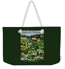 House And Garden Cover Featuring An Illustration Weekender Tote Bag