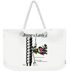 House And Garden Cover Featuring Pots And A Bird Weekender Tote Bag