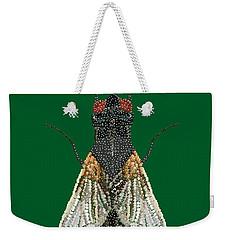 House Fly In Green Weekender Tote Bag