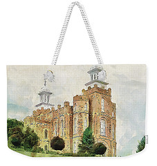 Weekender Tote Bag featuring the painting House Of Defense by Greg Collins