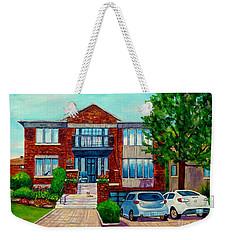 House Portrait-house  Art-commissioned  Montreal Paintings-carole Spandau Weekender Tote Bag