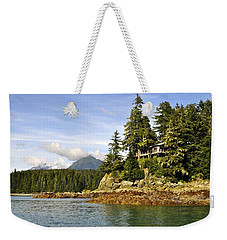 Weekender Tote Bag featuring the photograph House Upon A Rock by Cathy Mahnke