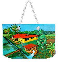 House With A Water Pump Weekender Tote Bag by Cyril Maza