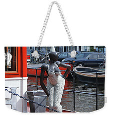 Weekender Tote Bag featuring the photograph Houseboat Chanteuse by Allen Beatty