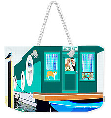 Weekender Tote Bag featuring the painting Houseboat by Marian Cates