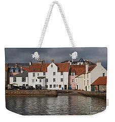 Houses At Pittenweem Harbor Weekender Tote Bag
