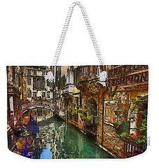 Houses In Venice Italy Weekender Tote Bag