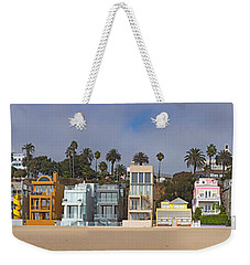 Houses On The Beach, Santa Monica, Los Weekender Tote Bag by Panoramic Images