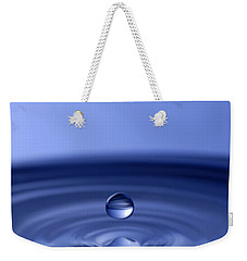 Hovering Blue Water Drop Weekender Tote Bag by Anthony Sacco
