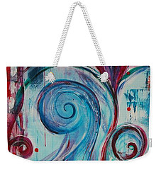 Weekender Tote Bag featuring the painting How Can It Be by Jocelyn Friis