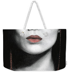 Weekender Tote Bag featuring the painting How Do I Love Thee...let Me Count Your Money by Pat Erickson