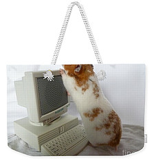 Weekender Tote Bag featuring the photograph How Do You Switch On This Screen? by Vicki Spindler