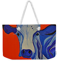 How Now Blue Cow Weekender Tote Bag by Janice Rae Pariza