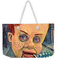 Howdy Von Doody Weekender Tote Bag by James W Johnson