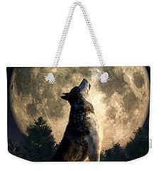 Howling Wolf Weekender Tote Bag