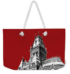 Harvard University - Memorial Hall - Dark Red Weekender Tote Bag