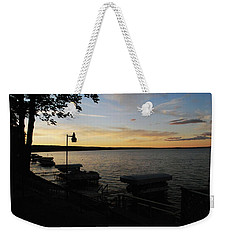 Hubbard Lake Sunset Weekender Tote Bag