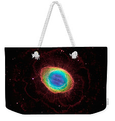 Weekender Tote Bag featuring the  Hubble Reveals The Ring Nebulas True Shape by Paul Fearn