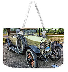 Weekender Tote Bag featuring the photograph hudson 1921 phaeton car HDR by Paul Fearn