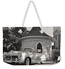 Weekender Tote Bag featuring the photograph Hudson Commodore Convertible by Verana Stark