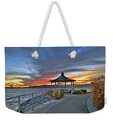 Hudson River Fiery Sky Weekender Tote Bag