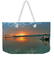 Hudson River Sunset Weekender Tote Bag by Jeffrey Friedkin
