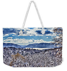 Hudson Valley First Snow Mystic Colors Weekender Tote Bag
