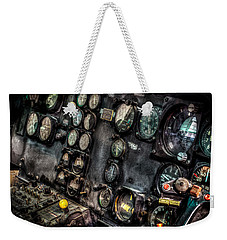 Huey Instrument Panel 2 Weekender Tote Bag by David Morefield