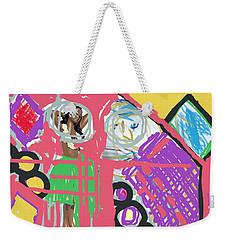 Hula Girl Under Paint Weekender Tote Bag
