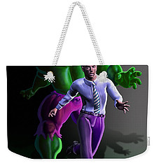 Weekender Tote Bag featuring the painting Hulk - Bruce Alter Ego by Anthony Mwangi