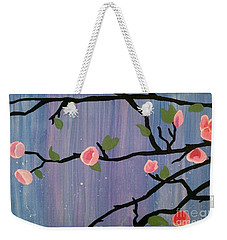 Weekender Tote Bag featuring the painting Humble Splash by Marisela Mungia