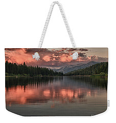 Hume Lake Sunset Weekender Tote Bag