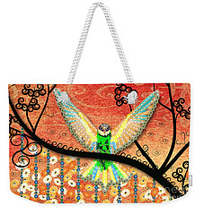 Weekender Tote Bag featuring the digital art Hummer Love by Kim Prowse