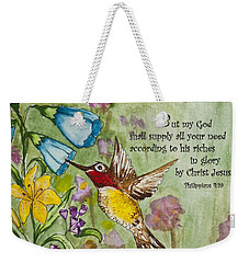 Humming Bird- Philipians Weekender Tote Bag