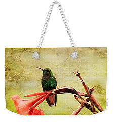 Hummingbird 1 Weekender Tote Bag by Teresa Zieba