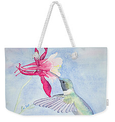 Hummingbird And Columbine Weekender Tote Bag