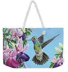 Hummingbird And Fuchsias Weekender Tote Bag