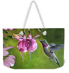 Hummingbird And Fuschia Weekender Tote Bag