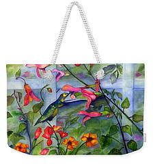 Hummingbird Dance Weekender Tote Bag