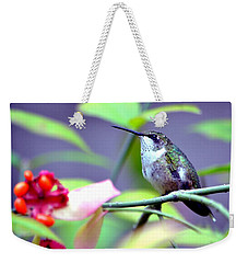 Weekender Tote Bag featuring the photograph Hummingbird by Deena Stoddard