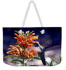 Weekender Tote Bag featuring the photograph Hummingbird Delight by AJ  Schibig