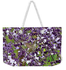 Hummingbird Flowers Weekender Tote Bag