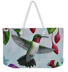 Hummingbird Greeting Card 2 Weekender Tote Bag by Crista Forest