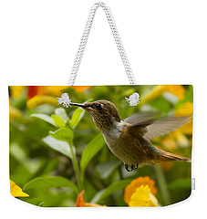 Hummingbird Looking For Food Weekender Tote Bag by Heiko Koehrer-Wagner