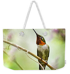 Hummingbird Looking For Love Square Weekender Tote Bag