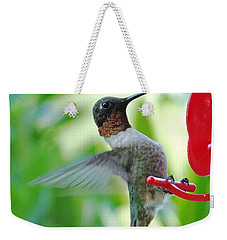 Hummingbird Male Ruby Throated  Weekender Tote Bag by Lizi Beard-Ward