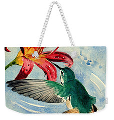 Hummingbird Weekender Tote Bag by Melly Terpening