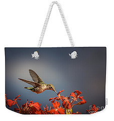 Hummingbird Or My Summer Visitor Weekender Tote Bag by Jola Martysz