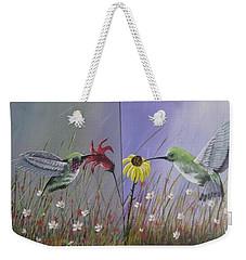 Hummingbird Pair Weekender Tote Bag