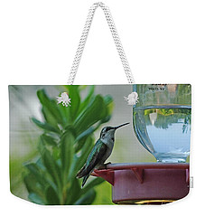 Hummingbird Still Life Weekender Tote Bag by Lizi Beard-Ward